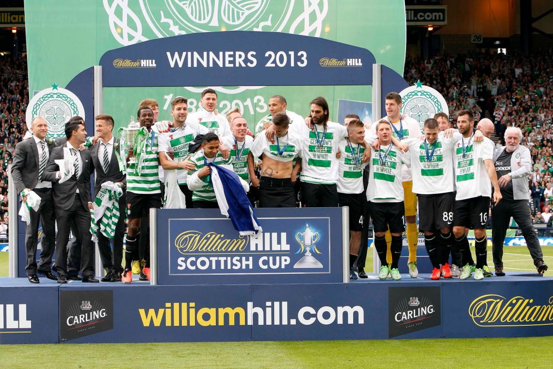cup final team celebrating