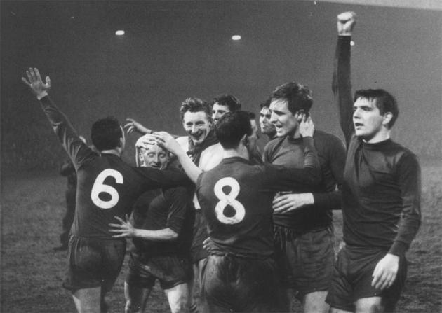 87 vojvodina players celebrating